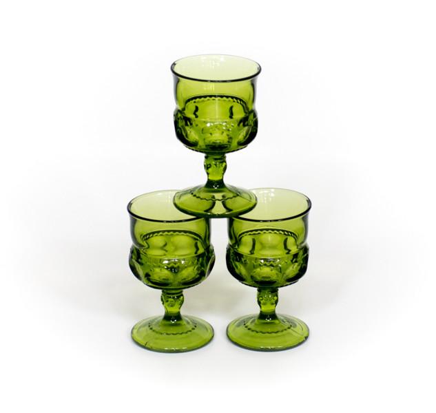 Green Indiana Co. Wine Glasses