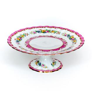 Pink Floral Cake Pedestal