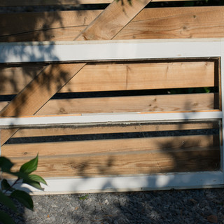 Cream Farmhouse Window