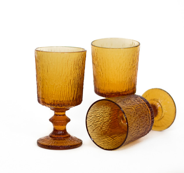 Small Amber Goblets