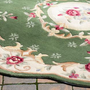 Emerald Rose Round Rug