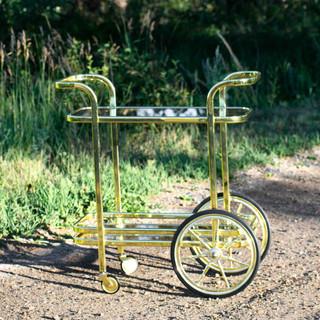 Gold Retro Bar Cart