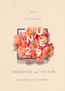 Save the Date, Print Design