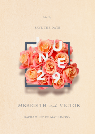 Save the Date, Print Design