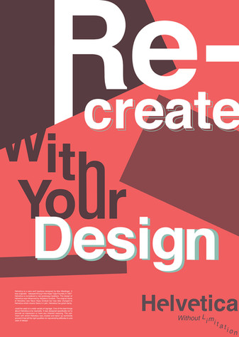 Revive Helvetica Campaign, Poster