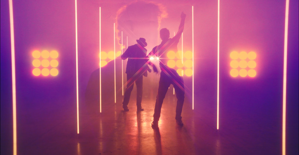 """TOCK (Joel Tock & Steve Laxton) performing in their music video entitled """"Sinkin' my Ship"""""""