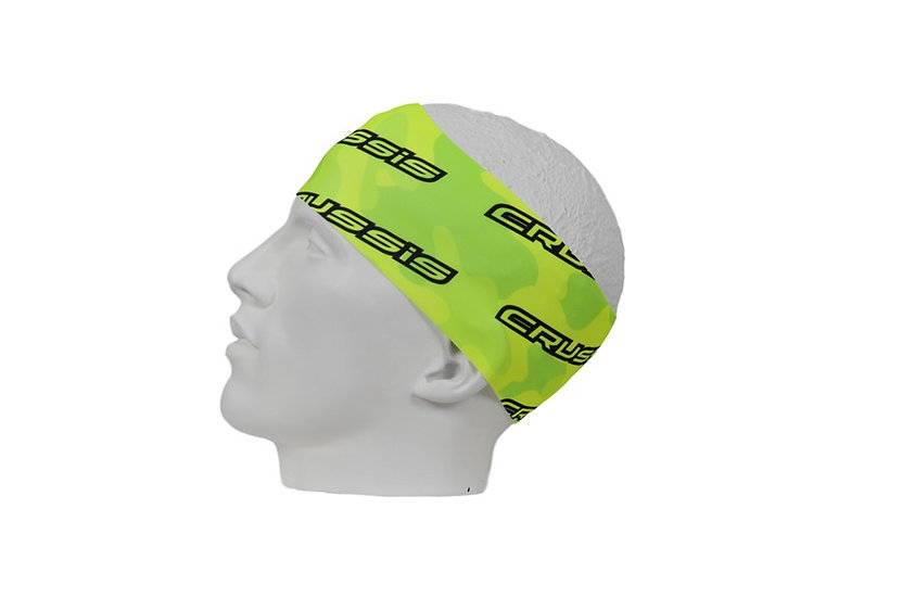 Headband Yellow fluorescent with Black letters