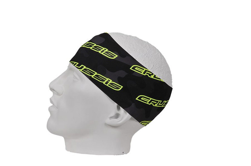 Headband dark Camouflage with Yellow fluorescent