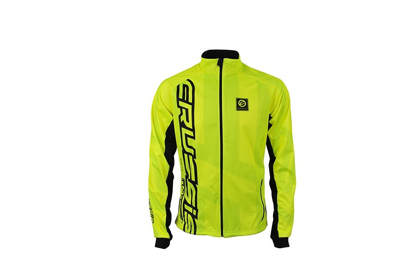 Jacket Crussis - Yellow Fluorescent, Unissex, Windproof and Waterproof