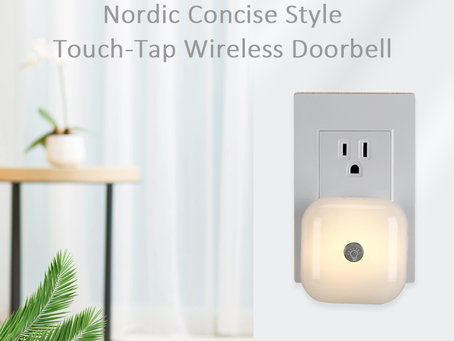 MoniSee Self-Powered Touch-Tap Night Light Wireless Doorbell Kit
