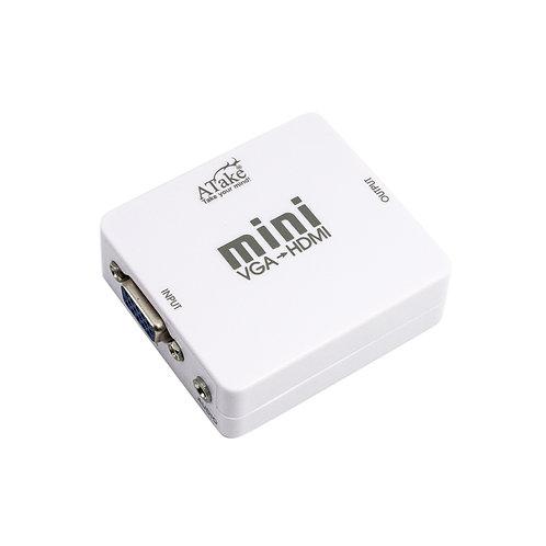 Mini VGA to HDMI Converter 3.5 Audio Video Adapter