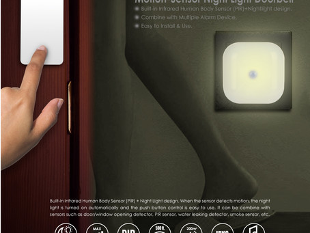 You won't need an electrician to install a MoniSee Wireless Motion-Sensor Doorbell Light