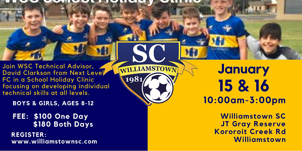 DAY 1 & 2 - WSC School Holiday Camp - Run by David Clarkson and Next Level FC