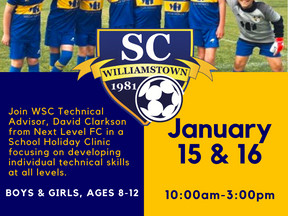 WSC presents our School Holiday Clinic inconjunction with David Clarkson our Technical Football Adv