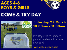 WSC Mini-Roos Come & Try Day / 4-6 years old / boys & girls