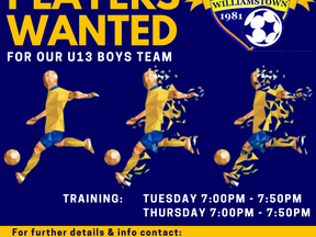 Spots still available in WSC u13s