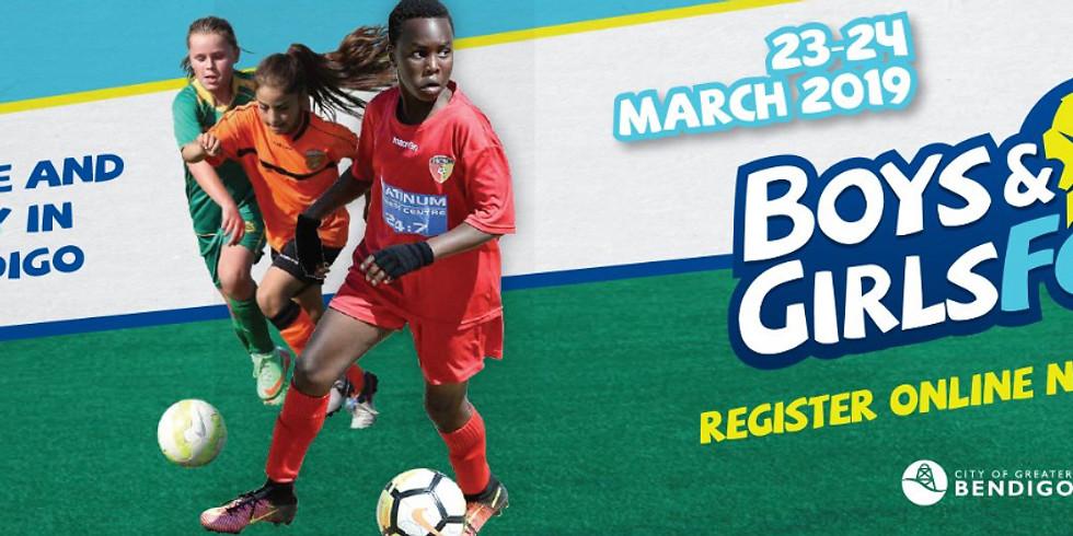 Football Victoria Boys & Girls Bendigo Tournament 2019