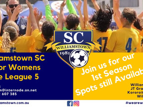 WSC Senior Womens Team State League 5 - Positions Available!
