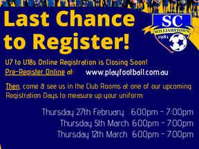 Last WSC Registration Days coming up!