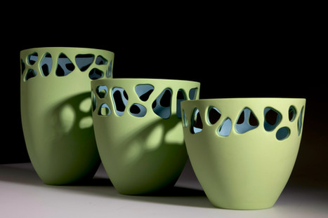 The Stratis Collection, Light Green Vessels - large, medium, small