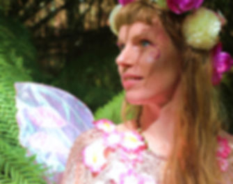 Fairy smiling in the forest, Faerie Sweetpea