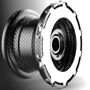 Carbon fiber wheel and brake system