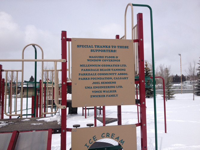 MGL Sign - Parkdale Playground