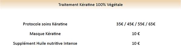 tarif traitement soins kératine végétal,