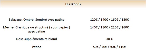 tarif meche blonde, ombré hair, sombré h