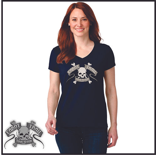 The Official Cabot Trail Biker Ladies T-Shirt