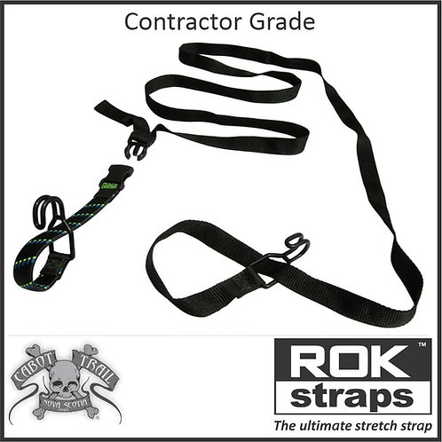 """ROK Straps """"Contractor Grade"""" Adjustable Stretch Strap with Hooks"""