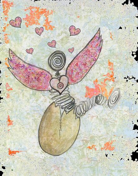 Ouvrir ses ailes, sortir de sa coquille pour aller à la rencontre du monde, de la vie, des gens, oser être, partager dans l'ouverture du coeur le meilleur de soi
