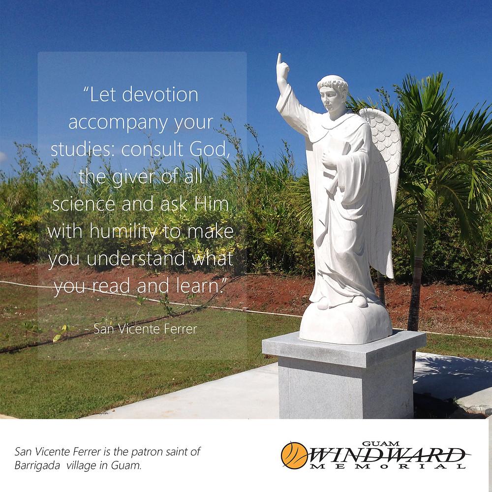 Statue of San Vincente at Guam Windward Memorial