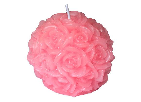 Vela Bola de Rosas