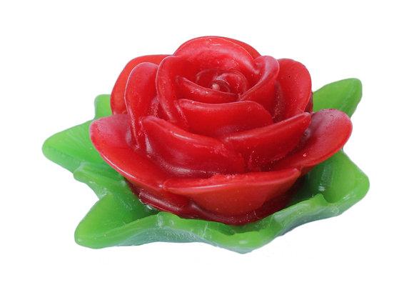 Vela Rosa com Folhas