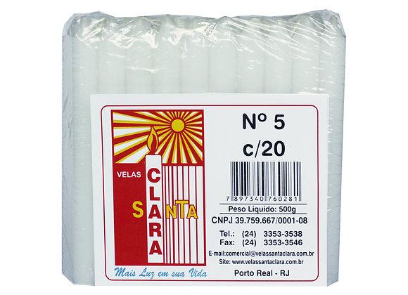 Vela Pacote Santa Clara N. 5 com 20un