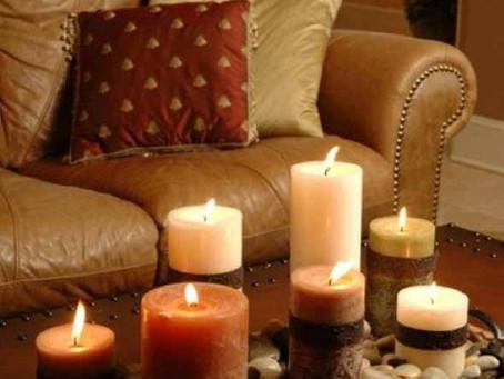 Fazendo mágica na decoração com velas