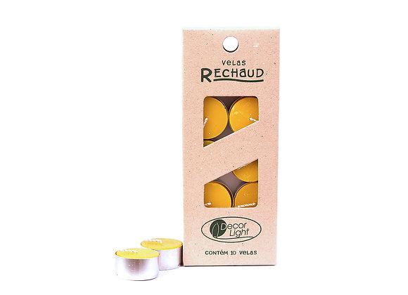 10 Velas Antimosquito com Citronela Rechaud