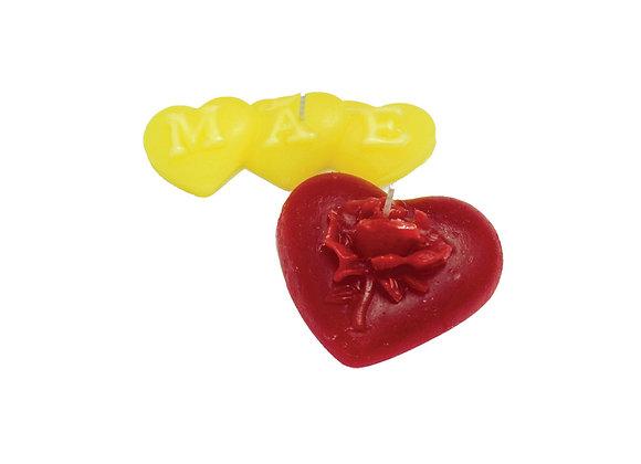Kit 2 Corações Mãe