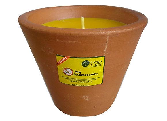 Vela Citronela em Vaso Terracota