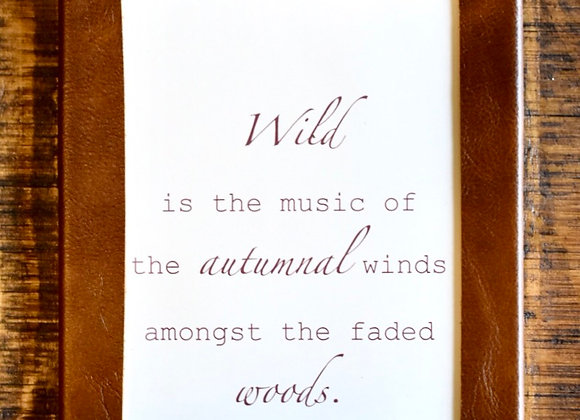 Leather Framed Sign - William Wadsworth Quote