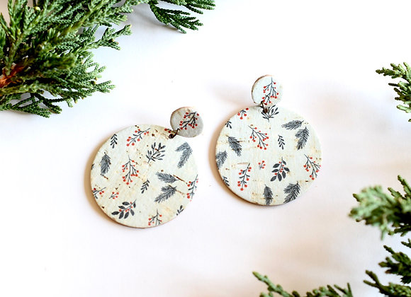 LEAVES & BERRIES CHRISTMAS EARRINGS
