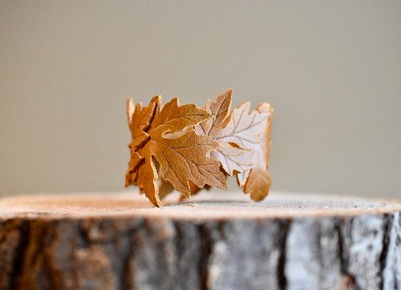 Sienna Brown Maple Leaf Cuff