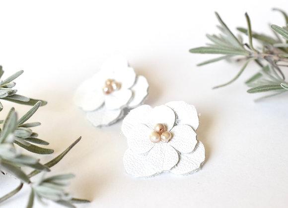 Double Dogwood Flower Post Earrings