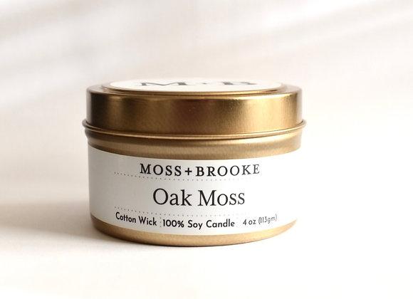 OAK MOSS 4OZ MOSS+BROOKE SOY CANDLE