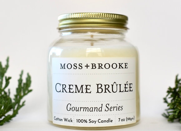 GOURMAND SERIES: CREME BRÛLÉE 7 OZ MOSS+BROOKE CANDLE