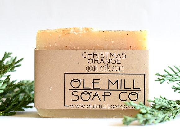CHRISTMAS ORANGE GOATS MILK SOAP