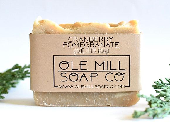 CRANBERRY POMEGRANATE GOATS MILK SOAP