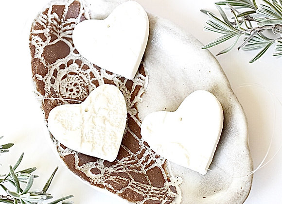 Lacy Heart Diffuser Ornaments
