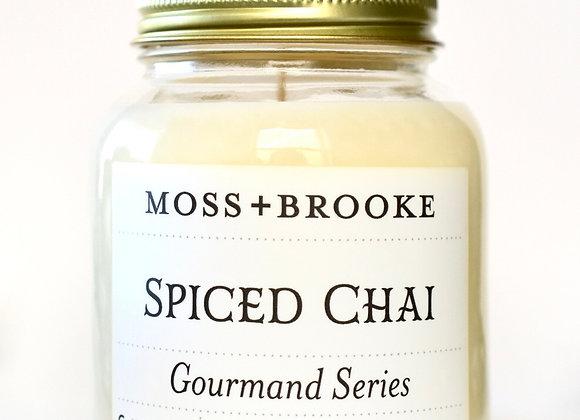 GOURMAND SERIES SPICED CHAI 7OZ MOSS+BROOKE CANDLE